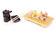 Tabelltidsbeställningar av sushi Royaltyfri Fotografi