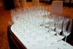 Tabelluppsättning för ett händelseparti- eller bröllopmottagande Royaltyfria Foton
