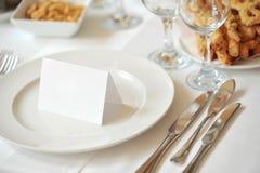 Tabelware e invitación no Imágenes de archivo libres de regalías