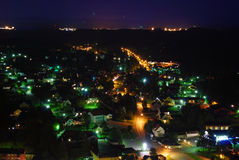Taberg. A village at night from above Royalty Free Stock Photos