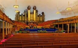 Tabernáculo mormón imagen de archivo