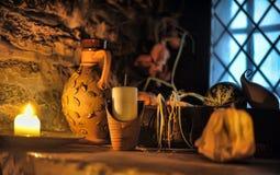 Taberna medieval interior, Fotografía de archivo libre de regalías