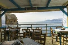 Taberna na vila de Matala Fotografia de Stock Royalty Free