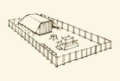 Tabernacle Моисея предпосылка рисуя флористический вектор травы бесплатная иллюстрация