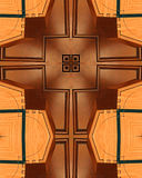 Tabernacle cross. Kaleidoscope cross from photo of wooden tabernacle which holds the bread for Catholic Eucharist Royalty Free Stock Images