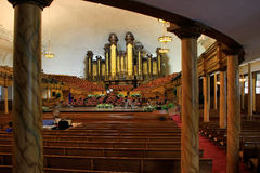 Tabernacle organ in Salt Lake City, Utah. It is one of the largest organs in the world Royalty Free Stock Photos