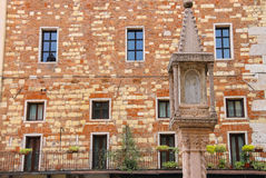 Tabernacle at Piazza dei Signori in Verona, Italy Royalty Free Stock Photos