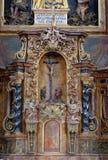 Tabernacle. On the main altar in the church of Saint Leonard of Noblac in Kotari, Croatia Stock Photos