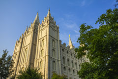 Tabernacle in temple square Royalty Free Stock Image