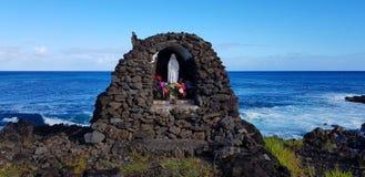 Tabernacle of the Virgin Mary, Hanga Roa, Easter Island, Chile royalty free stock image