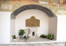 Tabernacolo Altare Maggiore, Basiliekdi Santa Caterina D ` Alexandria, Galatina, Italië Stock Fotografie