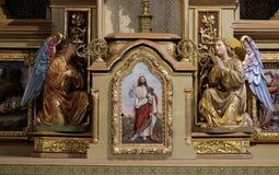 Tabernacolo sull'altare principale nella chiesa di St Matthew in Stitar, Croazia Immagini Stock Libere da Diritti
