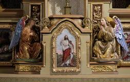 Tabernacolo sull'altare principale nella chiesa di St Matthew in Stitar, Croazia Fotografia Stock