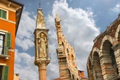 Tabernakel dichtbij Verona Arena van Verona, Italië Royalty-vrije Stock Afbeelding