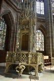 Tabernakel in Lorenzkirche in Nuremberg royalty-vrije stock fotografie