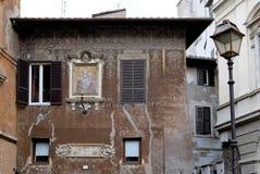 Tabernakel in Rome gewijd aan Maagdelijke Mary Stock Afbeelding
