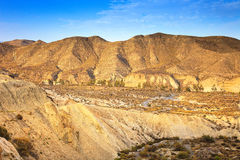 Tabernas desert mountains, andalusia, spain, cinema movie locati Stock Image
