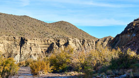 Tabernas Desert in Spain. Andalusia, Province of Almeria Stock Images
