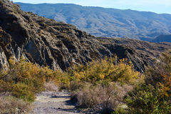 Tabernas Desert in Spain. Andalusia, Province of Almeria Stock Photos