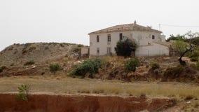 Tabernas - hus-Almeria-Andalusia-Spanien Arkivbilder
