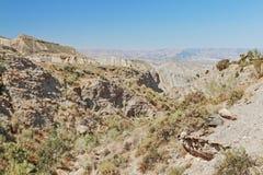 Tabernas woestijn in Almeria andalusia spanje royalty-vrije stock afbeelding