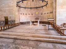 TABGHA, ΙΣΡΑΉΛ - Juli 9: Μωσαϊκό Tabgha, η εκκλησία του Multip Στοκ φωτογραφία με δικαίωμα ελεύθερης χρήσης