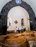 TABGHA, ISRAEL, July 9, 2015: Church of the Primacy of Peter, Ta Stock Photography