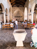 TABGHA, ISRAEL 9 July 2015: Interior of The Church of the First Stock Image