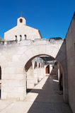 Tabgha, Israel, Middle East, Church of the Multiplication of the Loaves and Fish, multiplication, Holy Land, pilgrimage, religion. The Church of the Royalty Free Stock Images