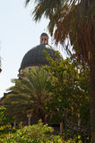 Tabgha, Israel, Middle East, Church of the Beatitudes, Holy Land, pilgrimage, Sermont on the Mount, dome. The dome of the Church of the Beatitudes on September 3 Royalty Free Stock Photography