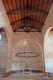 Tabgha, Israel, Middle East, Church of the Multiplication of the Loaves and Fish, multiplication, Holy Land, pilgrimage, religion. The interior of the Church of Stock Photo