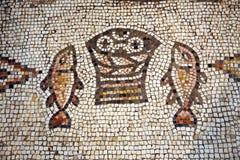 Tabgha mosaik royaltyfria bilder
