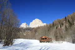 Tabia onder de berg Pelmo Stock Afbeelding