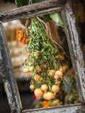 tablå Grönsaker i ram Royaltyfri Fotografi
