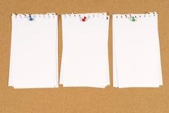 Tablón de anuncios Foto de archivo