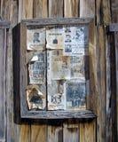 Tablón de anuncios Fotografía de archivo libre de regalías