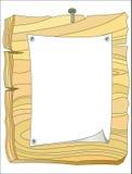 Tablón de anuncios de madera Imágenes de archivo libres de regalías