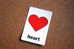 Tablón de anuncios del corazón Fotografía de archivo libre de regalías