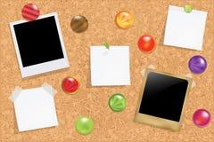 Tablón de anuncios del corcho Fotos de archivo