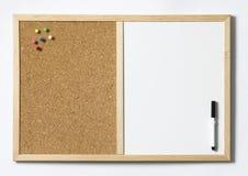 Tablón de anuncios en blanco Foto de archivo libre de regalías