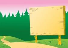 Tablón de anuncios a lo largo del camino Imagen de archivo libre de regalías