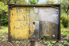 Tablón de anuncios público vacío Foto de archivo