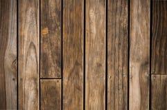 Tablón de madera de marrón oscuro Imagenes de archivo
