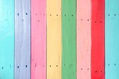 Tablón de madera en colores pastel Fotos de archivo