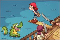 Tablón del pirata ilustración del vector