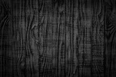 Tabl?n viejo del fondo del vintage de la textura de madera del negro Superficie de madera oscura imagen de archivo