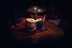 Tabla étnico del instrumento musical dentro de la frialdad-hacia fuera Imagen de archivo libre de regalías