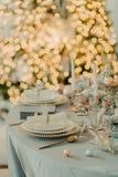 Tabla adornada del ` s del Año Nuevo Fotos de archivo