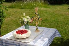 Tabla adornada del verano Imagen de archivo libre de regalías