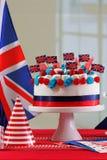 Tabla BRITÁNICA del partido de la celebración de la festividad nacional Imagen de archivo libre de regalías